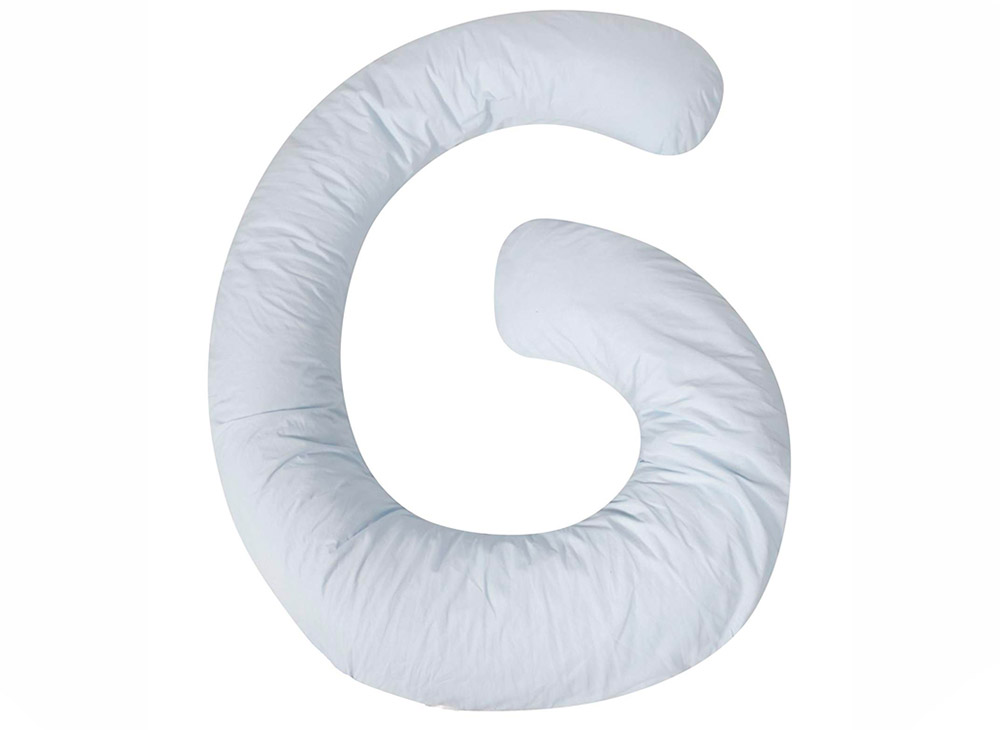 G shaped pregnancy pillow